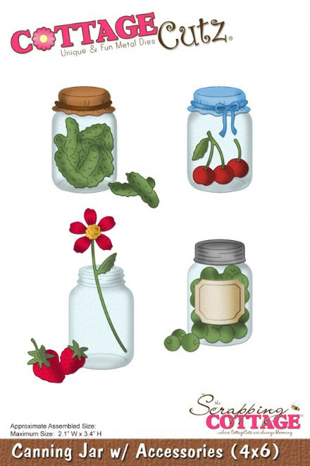 CC4x6-106 ~ CANNING JARS with ACCESSORIES ~ (4X6) die